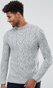Tall Cable Knit Jumper