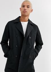 Tall Double Breasted Pea Coat Trench