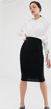 Tall Jersey Pencil Skirt