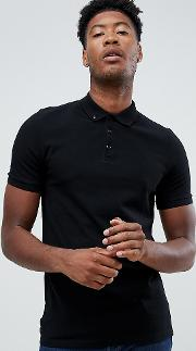 Tall Pique Polo With Button Down Collar