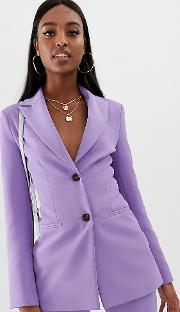 Tall Pop Waisted Suit Blazer