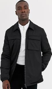 Tall Quilted Jacket With Utility Details