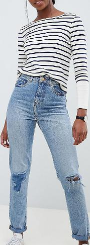 Tall Recycled Ritson Rigid Mom Jeans