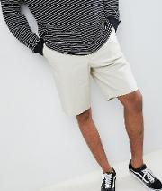 design tall skater shorts in putty