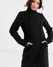 Tall Smart Coat With Wrap Front Detail