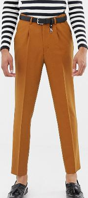 Tall Tapered Crop Smart Trouser With Pleats