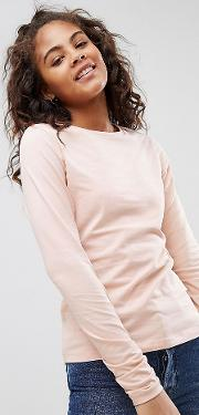 Tall Ultimate Top With Long Sleeve And Crew Neck
