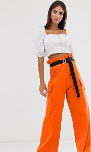 Tall Utility Culotte With Pockets And Webbing Belt