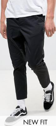 Tapered Cropped Chinos