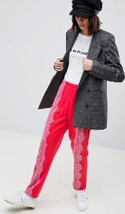 Track Pant Trousers With Lace Detail