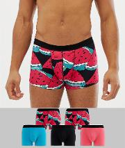 Trunks With Watermelon Print 5 Pack
