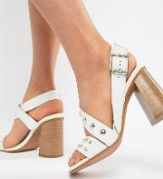 Tuition Leather Studded Sandals