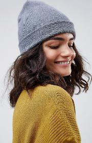 turn up beanie in recycled polyester