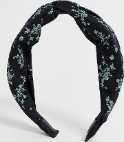 Twist Headband With Floral Bloom Print