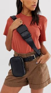 Utility Bum Bag With Cross Body Detail