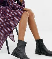 Wide Fit Albany Leather Sock Boots