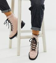 Wide Fit Anya Hardware Lace Up Boots