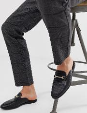 Wide Fit Backless Mule Loafer