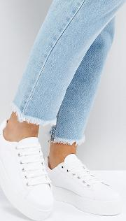 Wide Fit Day Light Chunky Flatform Lace Up Trainers