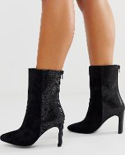 Wide Fit Eleanor High Ankle Boots