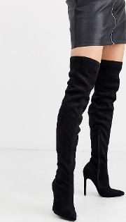 Wide Fit Kendra Stiletto Thigh Boots