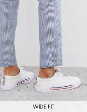 Wide Fit Lace Up Plimsolls