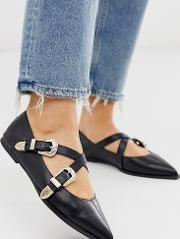 Wide Fit Lexicon Pointed Ballet Flats