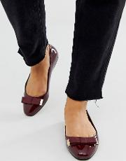 Wide Fit Lexy Bow Ballet Flats