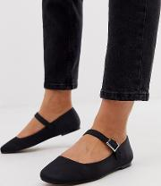 Wide Fit Links Mary Jane Ballet Flats