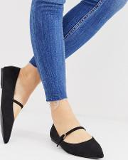Wide Fit Lucas Mary Jane Ballet Flats