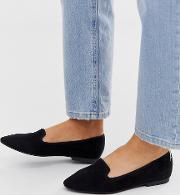 Wide Fit Lychee Ballet Flats
