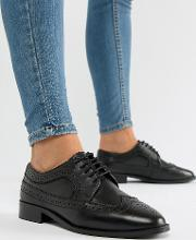 Wide Fit Mai Tai Leather Brogues