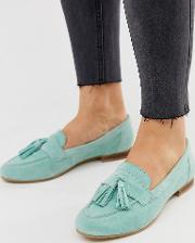 Wide Fit Message Suede Tassel Loafers