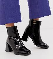 Wide Fit Reed Heeled Ankle Boots