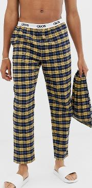 Woven Straight Pyjama Bottoms