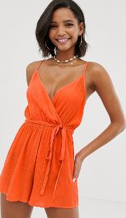 Wrap Tie Front Strappy Playsuit