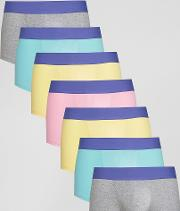 Hipsters With Purple Waistbands 7 Pack Save