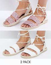 Janica Two Pack Sandal Espadrilles