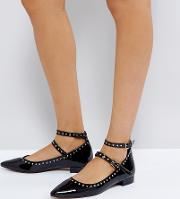 Lock Down Studded Ballet Flats