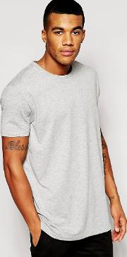 Longline T Shirt With Crew Neck