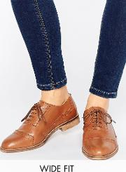 make up wide fit leather brogues