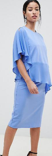 asos design maternity nursing one shoulder double layer dress