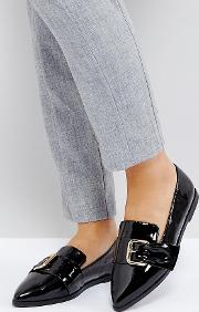 Melvin Wide Fit Pointed Flat Shoes