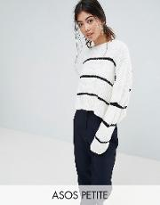 chunky jumper with contrast ladder stitch