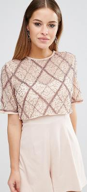 Double Layer Embellished Playsuit