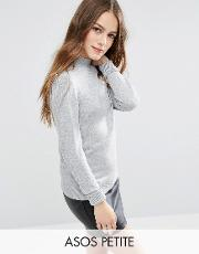 jumper with turtle neck in soft yarn