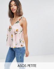 swing satin cami  pretty floral
