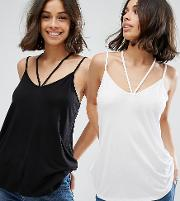 The Ultimate Cami With Caging Detail 2 Pack