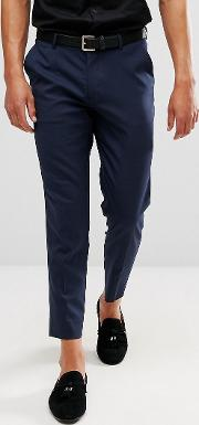 skinny cropped smart trousers  navy