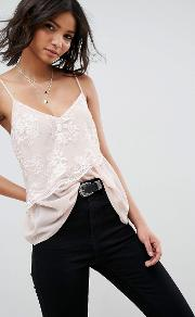 soft cami with lace